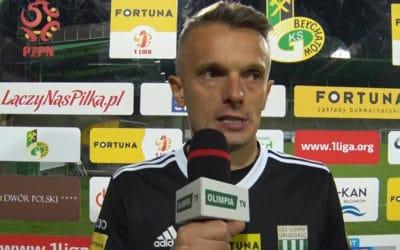 Łukasz Sapela po meczu z GKS Bełchatów (VIDEO)