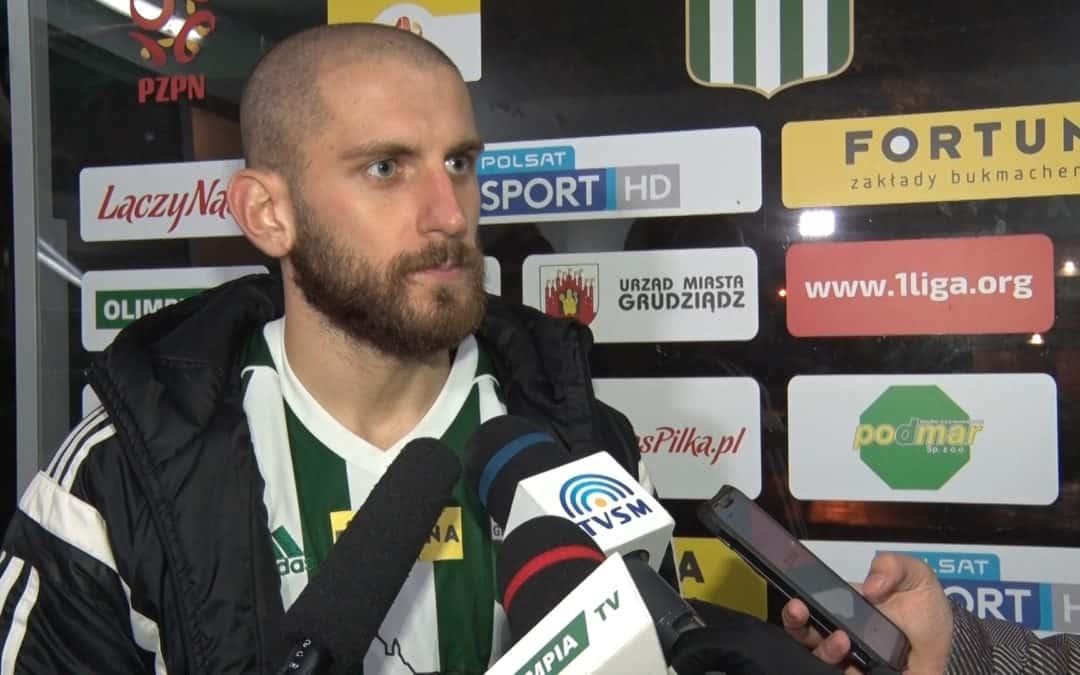 Damian Ciechanowski po meczu z Odrą Opole (VIDEO)