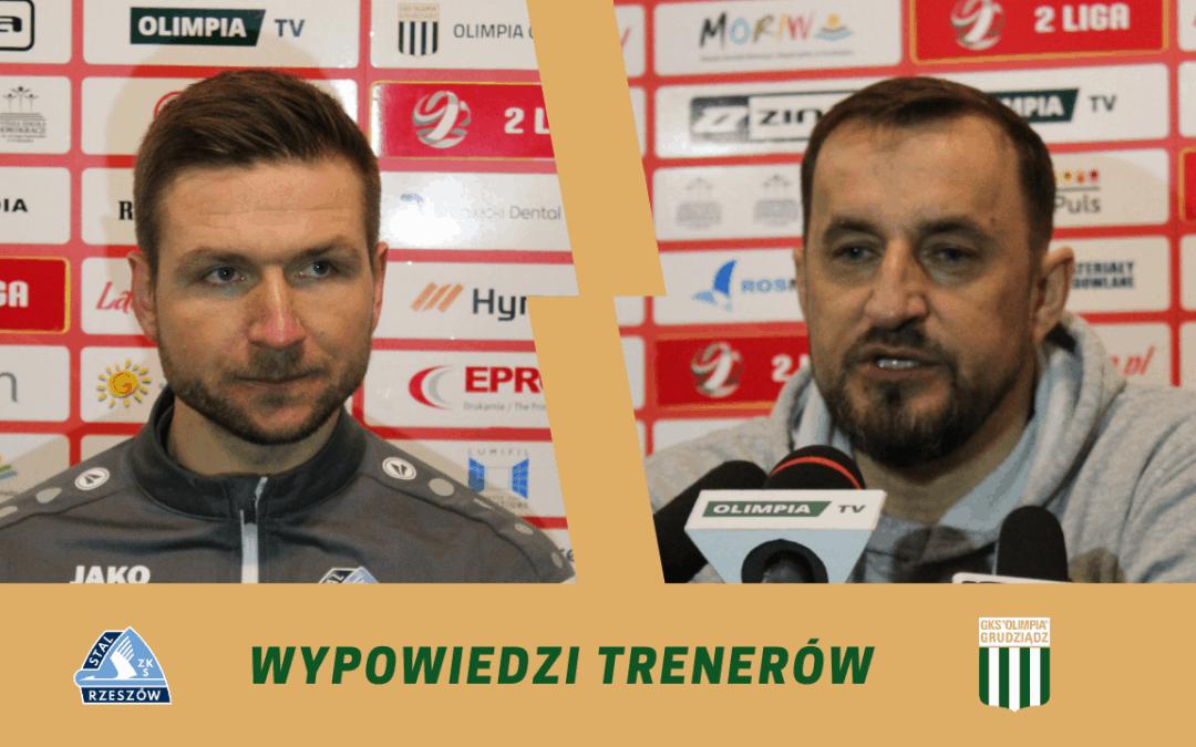 Konferencja po meczu Olimpia Grudziądz – Stal Rzeszów.