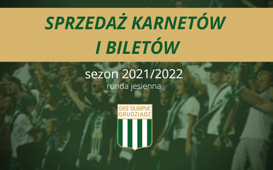 Karnety i bilety na rundę jesienną sezonu 2021/22.