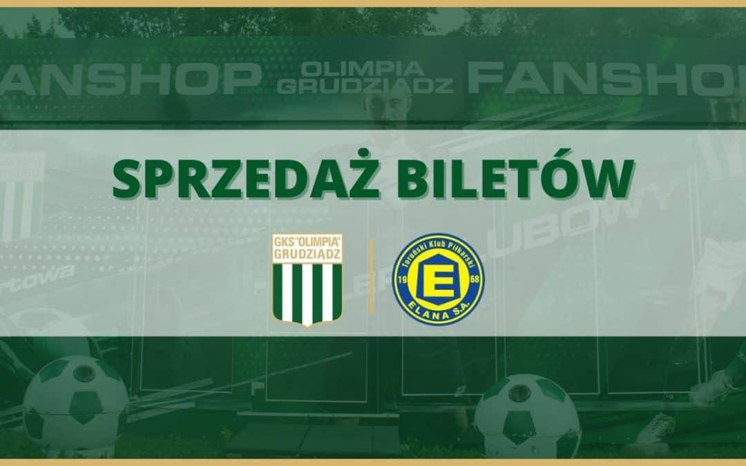 Sprzedaż biletów na mecz Olimpia Grudziądz – Elana  Toruń.